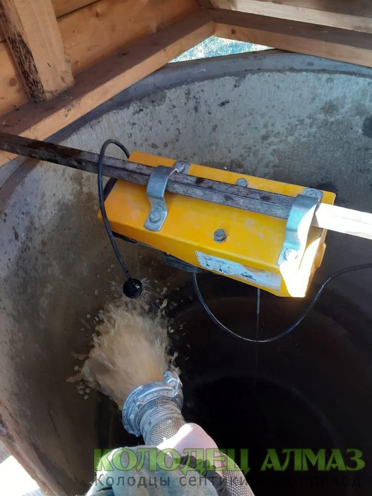 монтаж насоса для чистки