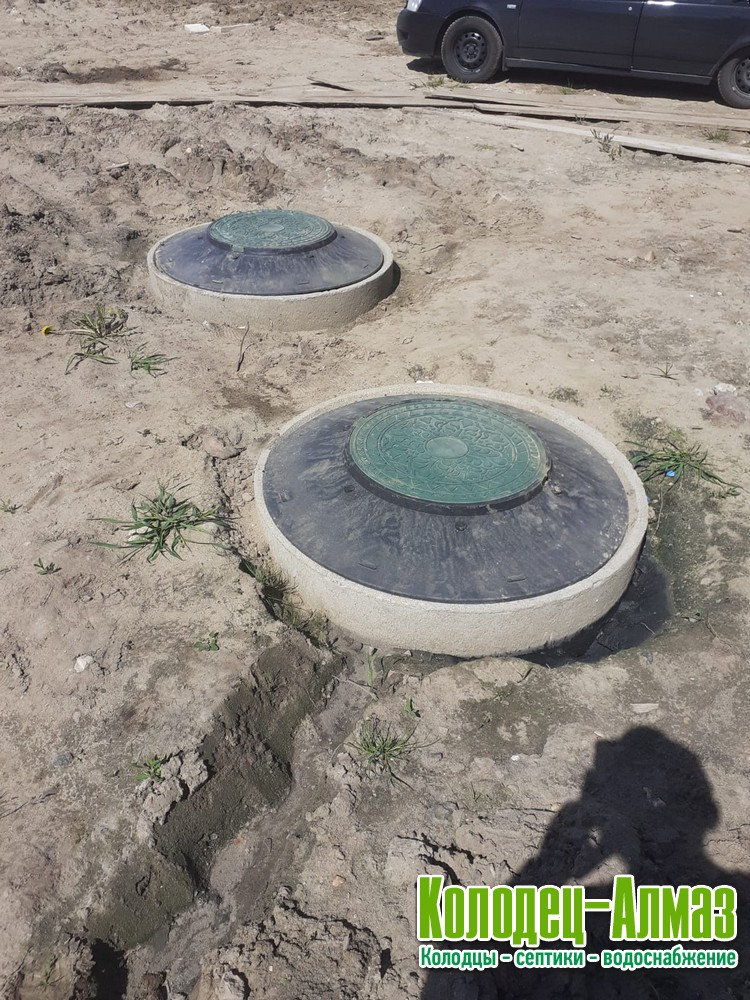 Септик из бетонных колец под ключ в Пушкинском районе